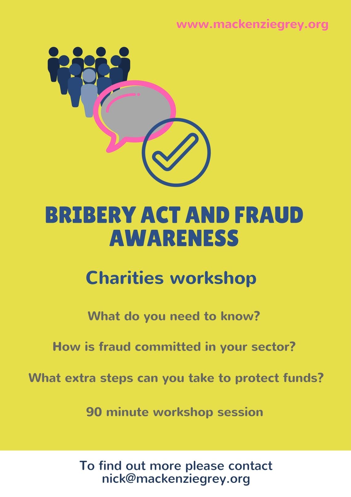 Bribery Act and fraud awareness - charities jpg