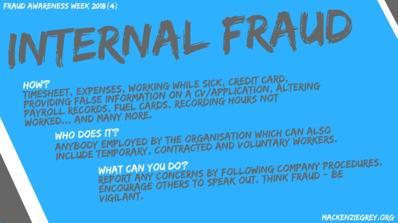 Internal Fraud Screensaver