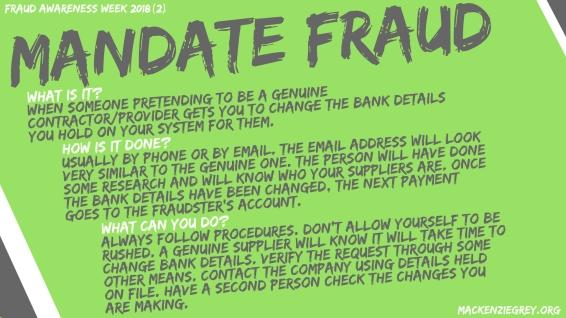 Mandate Fraud Screensaver