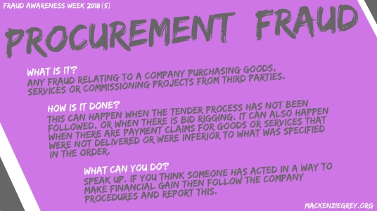 Procurement Fraud Screensaver