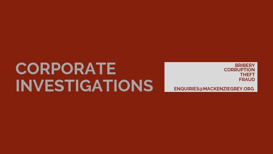 corporate investigations
